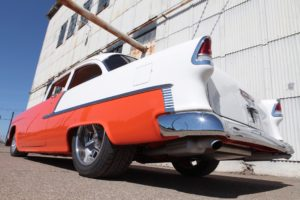 orange 1955 pro touring art morrison chassis ls9 supercharged metalworks