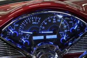 1956 chevy belair dakota digital gauges metalworks