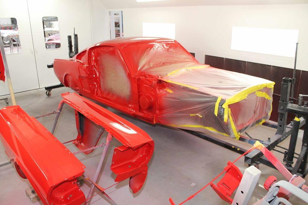 1965 ford mustang fresh paint job metalworks oregon