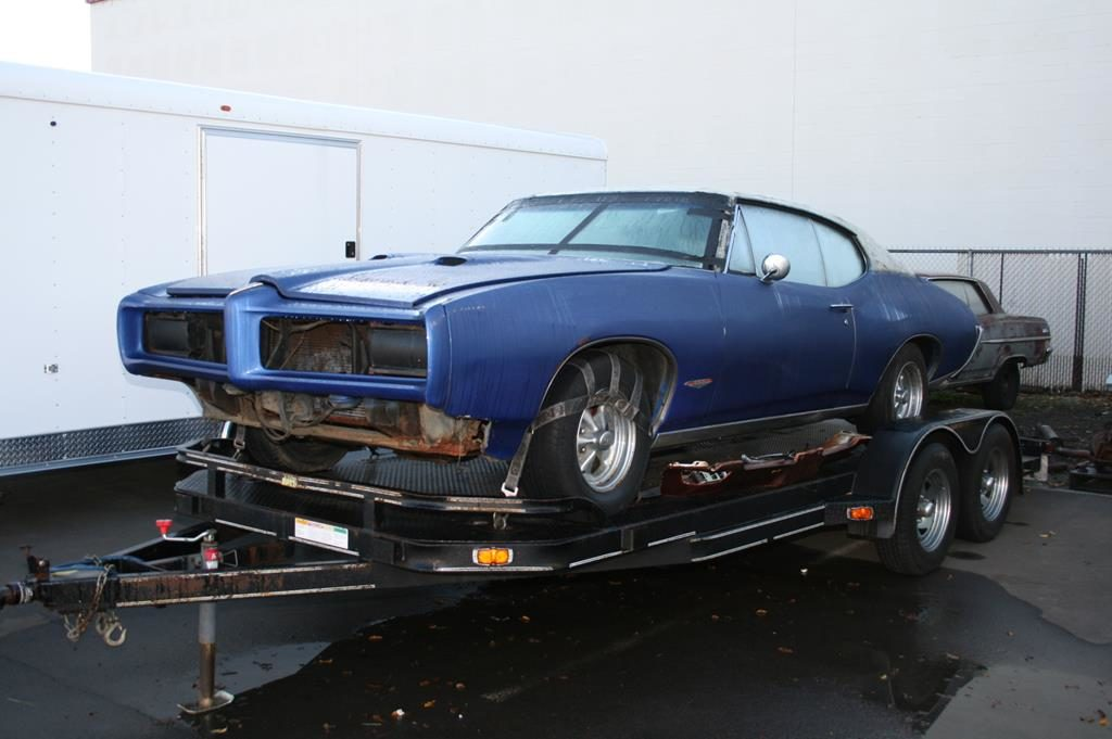 1968 pontiac gto arrival restoration metalworks oregon