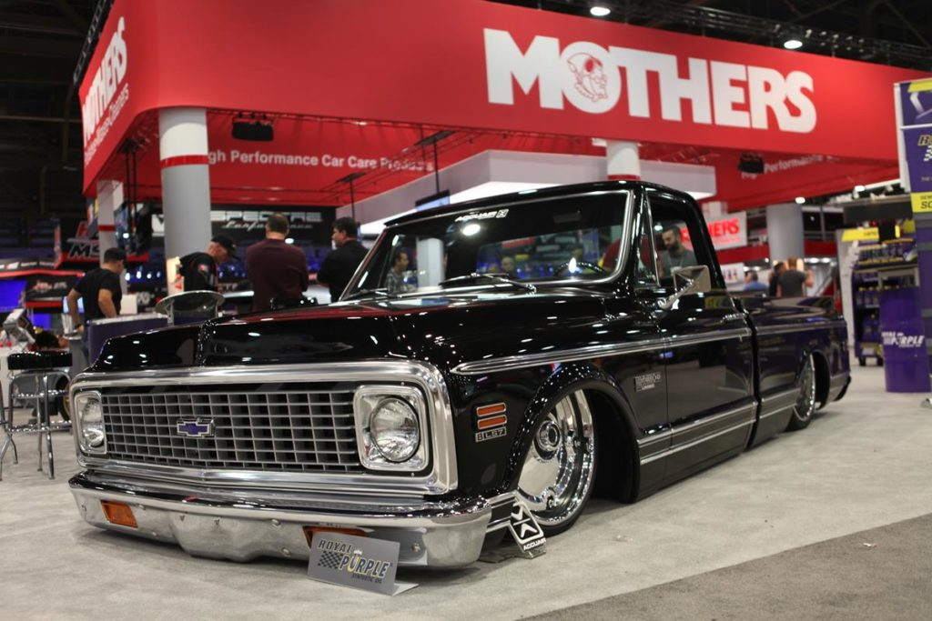 trucks of sema 2016 bagged c10 metalworks