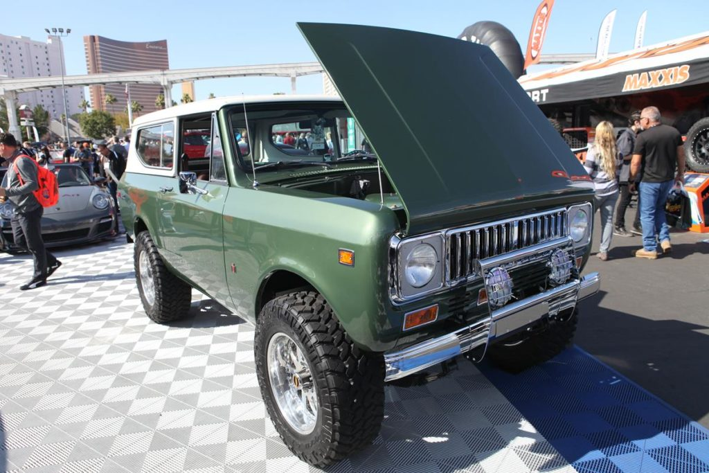 trucks of sema 2016 international scout metalworks oregon