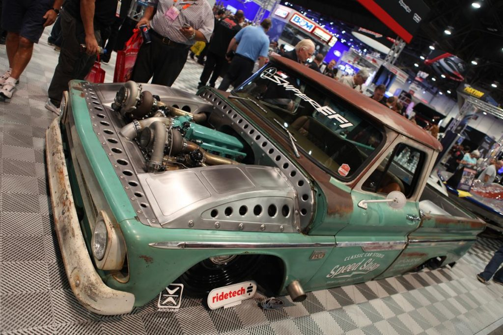 trucks of sema 2016 twin turbos metalworks