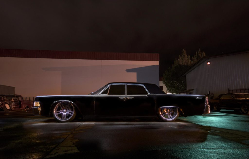 1965 lincoln continental airride bagged rushforth wheels baer brakes metalworks