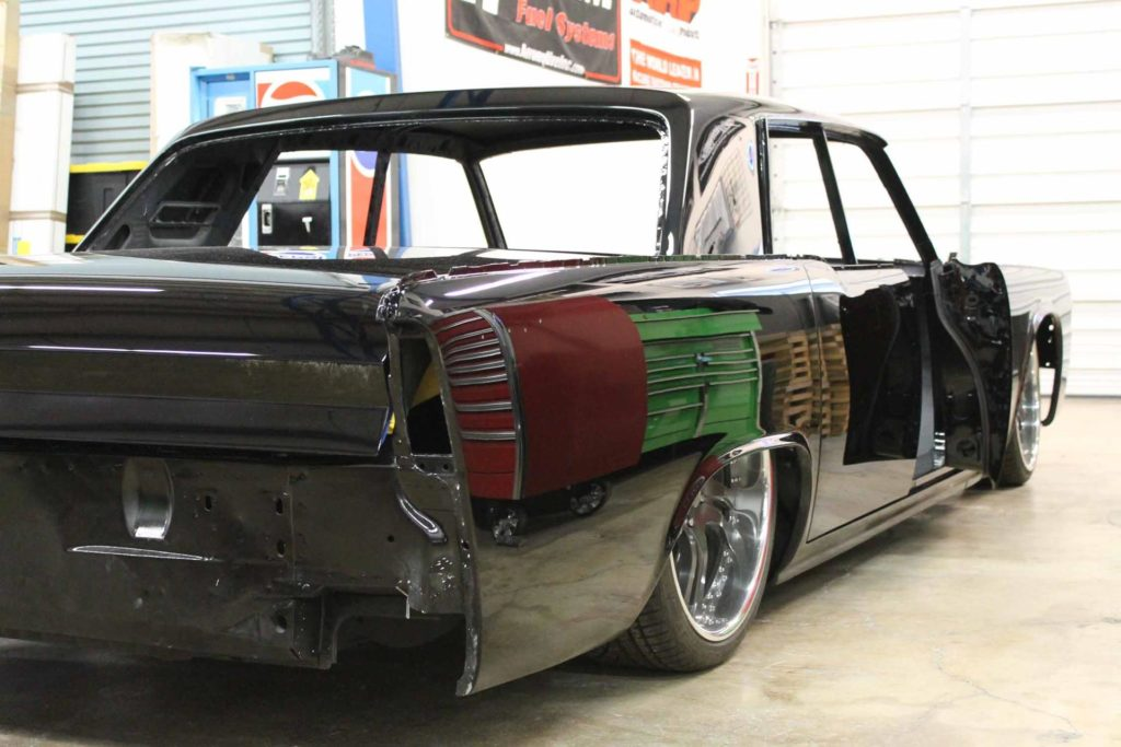 1965 lincoln continental wet sanded and buffed paint metalworks oregon