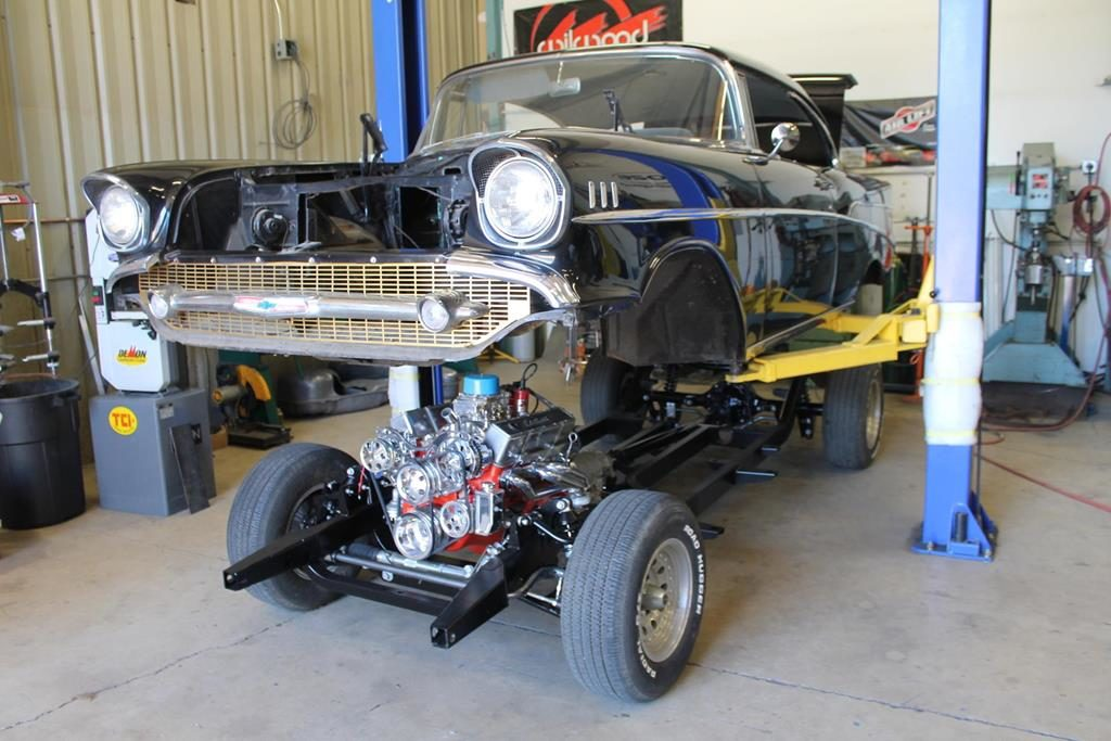 1957 chevy art morrison body on chassis metalworks