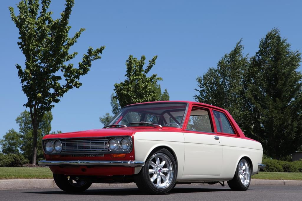 datsun 510 custom car hot rod metalworks eugene oregon