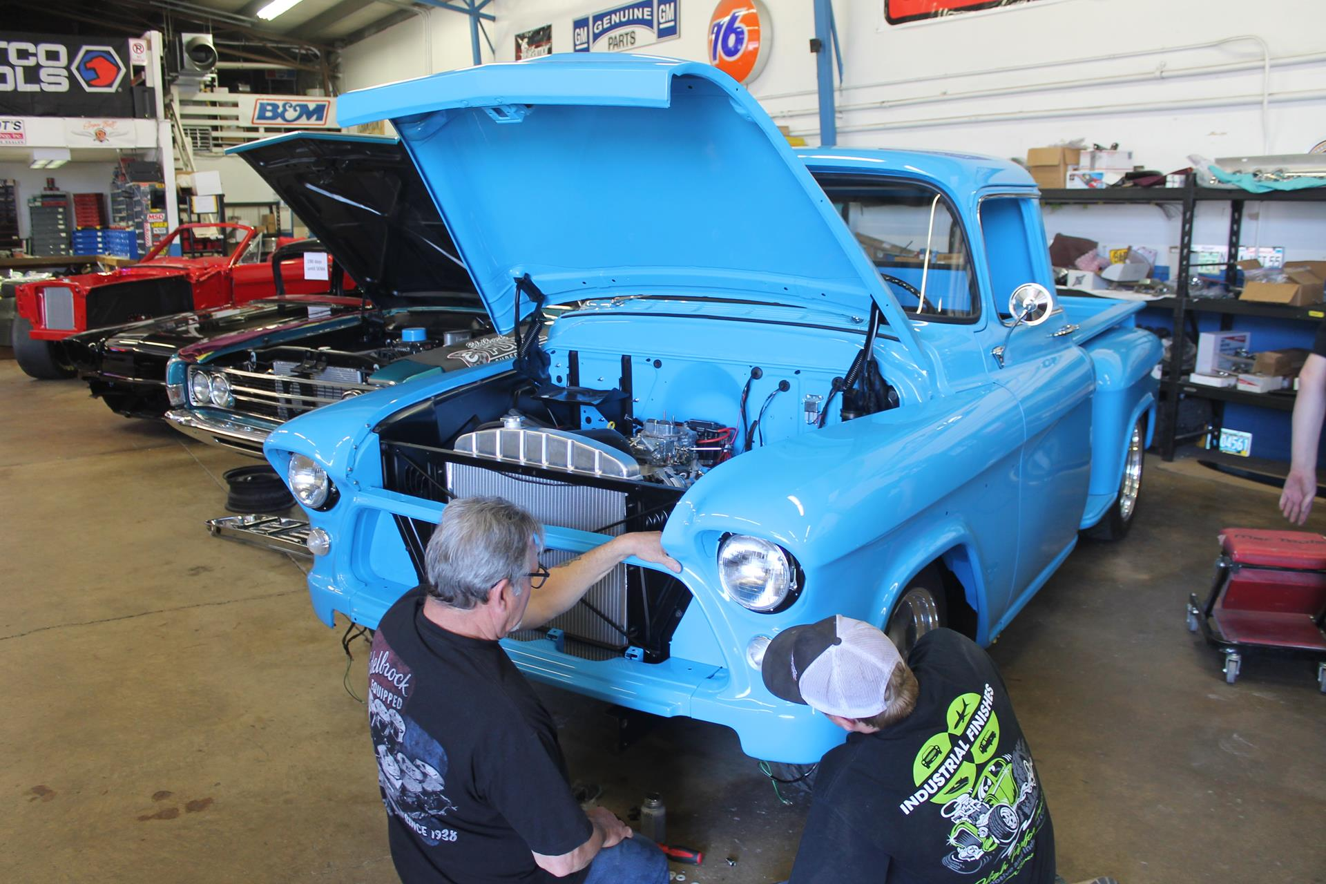 1955 Chevy Truck Metalworks Classics Auto Restoration Speed Shop 2nd Series Paint Colors Exhaust