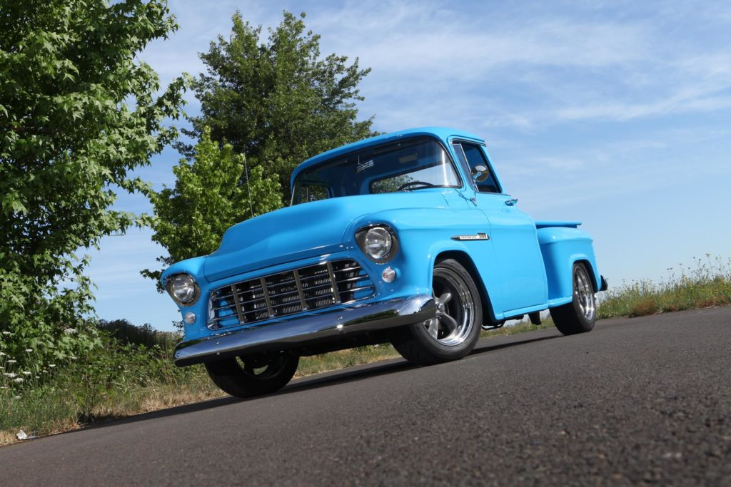 1955 chevy truck restoration finished metalworks speedshop eugene oregon