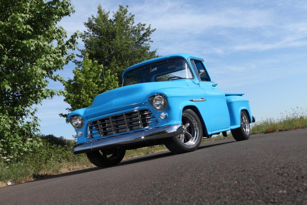 1955 chevy truck restoration finished metalworks speedshop eugene oregon