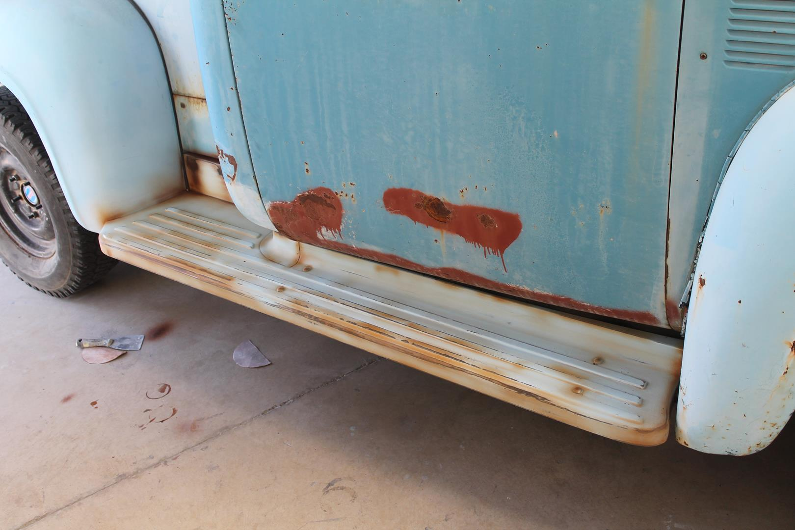 1955 Ford F100 Metalworks Classics Auto Restoration Speed Shop Running Boards Engine Accessories