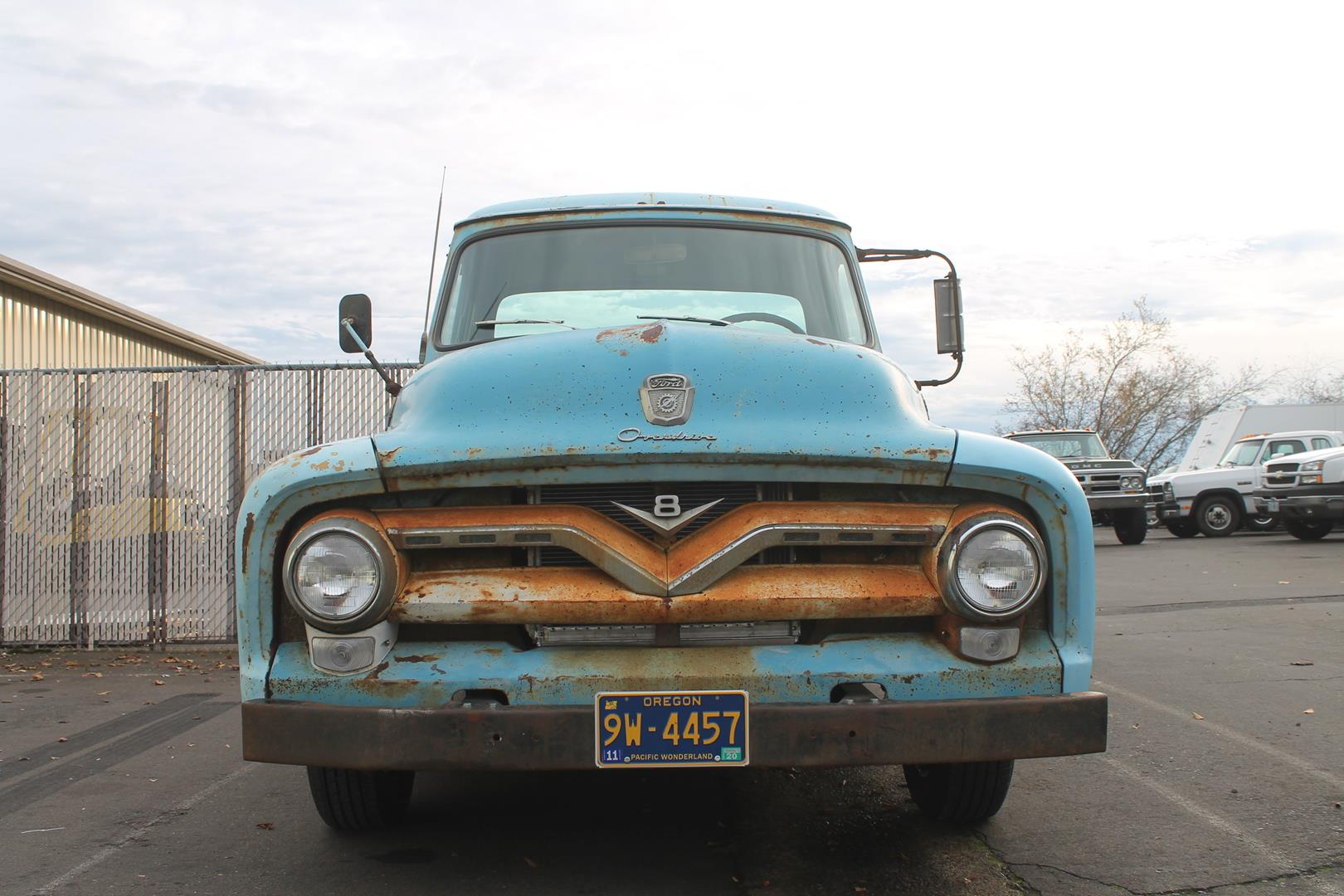 1955 Ford F100 Metalworks Classics Auto Restoration Speed Shop Hood Seat Upholstery