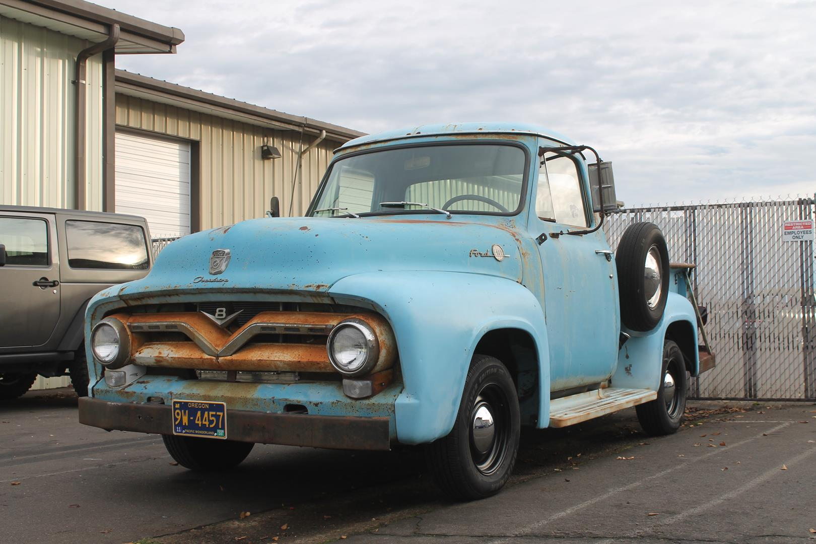 1955 Ford F100 Metalworks Classics Auto Restoration Speed Shop Truck Art Seat Upholstery