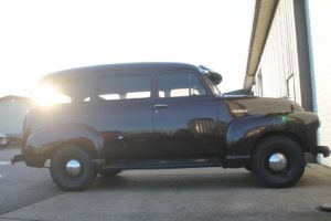 1951 chevy suburban arrival art morrison chassis swap metalworks speed shop oregon